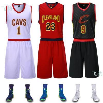 骑士新款詹姆斯23号球衣韦德9号2号乐福罗斯1号篮球服套装定制