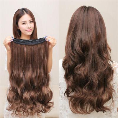 俏丽长卷发片假发片大波浪假发片隐形一片式长发片假发女无痕接发H60