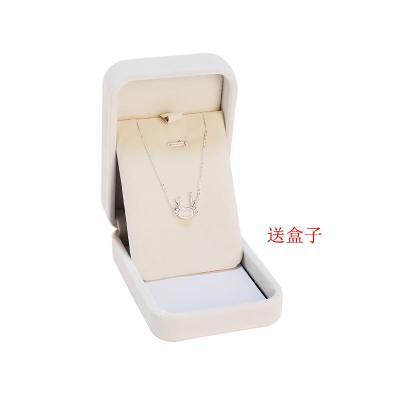 月夜森林S925银月光石饰品圣诞麋鹿角情侣捕梦网手链生日礼物男女