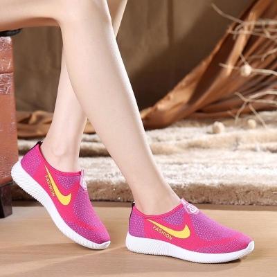 女鞋团_老北京布鞋女鞋透气舒适平跟女休闲鞋一脚蹬网鞋运动鞋妈妈鞋单鞋