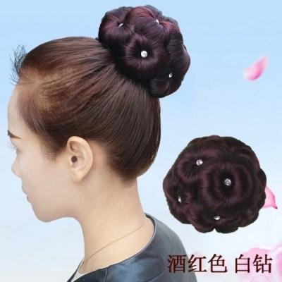 发型彩色假发丝这个手不太冷假发套韩国泡面女童古装头饰新娘头花