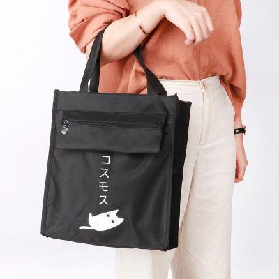 男女中小学生A4书本补习袋手提帆布美术袋防水美术袋补习包文件袋