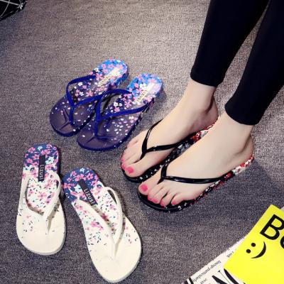 可鞋女夏女士凉拖夏外穿夏天夹板鞋钻女高跟鞋平底坡跟女凉包头夏
