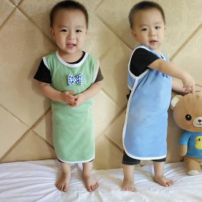 婴儿肚兜纯棉夏季薄款男女小孩露背睡袋空调防踢被肚兜儿童护肚围