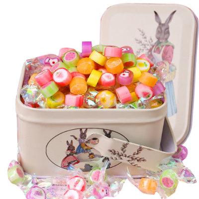 圣诞节礼物千纸鹤糖果切片糖700-60颗手工水果糖散装批发600-120g