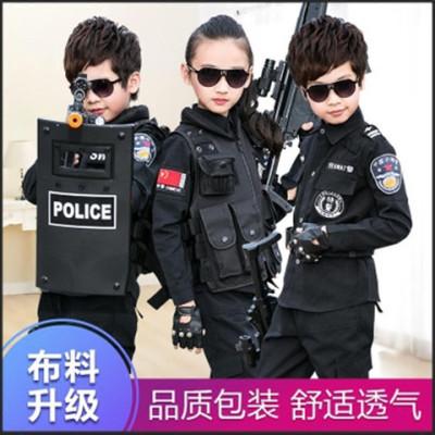 【长袖短袖】儿童小警察特警交警军装衣服玩具枪套装帽子男女孩童