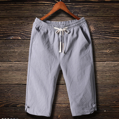 夏季七分裤男中裤大码休闲短裤男沙滩裤马裤男士七分裤运动短裤