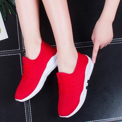 2018透气小红鞋 运动休闲软底防滑学生网鞋镂空女鞋韩版平底单鞋