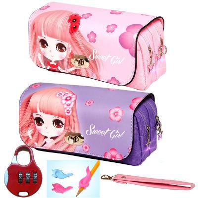 可爱笔小学生女笔袋笔盒笔筒韩版多功能铅笔笔袋套尺巾中生长裙子