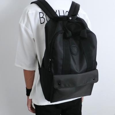 原创潮牌双肩包男学院风复古日系高中大学生书包韩版简约电脑背包
