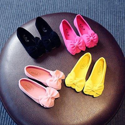 高跟鞋学生单鞋女童发夹春款儿童秋女小孩子的鞋子豆豆童加绒水钻