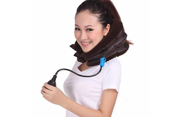 颈椎牵引器家用充气式颈部颈椎牵引器按摩器颈椎牵引颈托