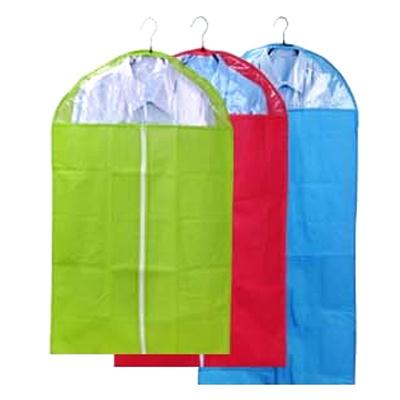 2只装60x90CM 衣服彩色透明防尘罩 西服防尘罩衣服防尘罩大衣衣物防尘袋西服套颜色随机发