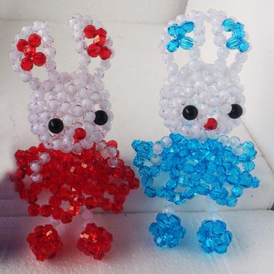 【串珠成品小裙兔】串珠手工饰品玩具摆件工艺品串珠珠子小裙子兔