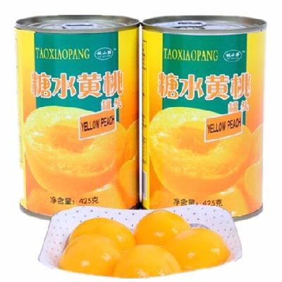 砀山糖水黄桃罐头【425g*5/12罐】 新鲜美味包邮