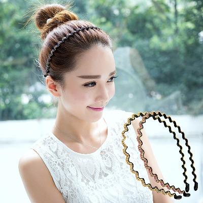 韩版铁质水钻发箍简约成人压发卡洗脸头箍刘海发夹头饰发带发饰品