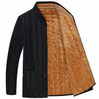 冬装新款男加绒加厚中年男棉衣厚棉袄中老年男装外套爸爸装棉服男