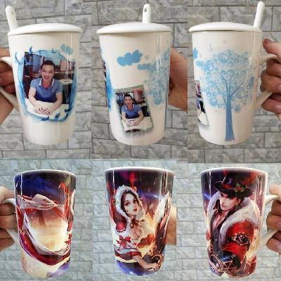 创意非变色陶瓷马克杯大容量450ML印照片情侣杯DIY来图定做礼水杯