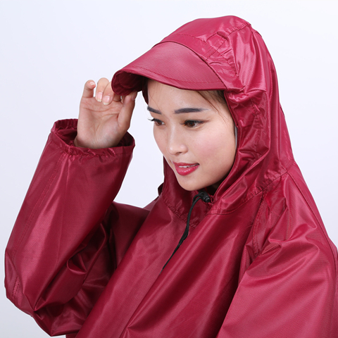 电瓶车雨衣电动车单人自行车摩托车男士女士韩版加大加厚带袖雨披