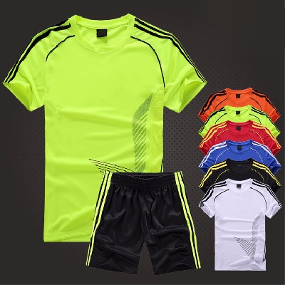 新款足球服套装儿童成人足球训练服男女比赛队服定制中小学生球衣
