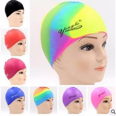 防水护耳硅胶泳帽成人游泳帽男女儿童彩色帽子温泉泳帽