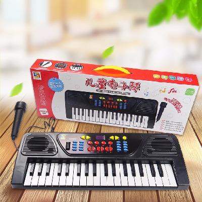 【买1送4】儿童电子琴带麦克风可直插充电37键玩具启蒙仿真乐器