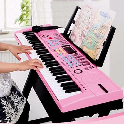 智能电子琴成人61键儿童初学者钢琴带麦克风益智宝宝女孩乐器玩具