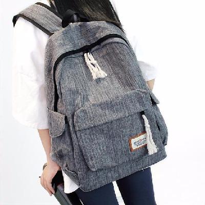 简约双肩包男女韩版中学生书包大容量旅行背包学院电脑包开学书包