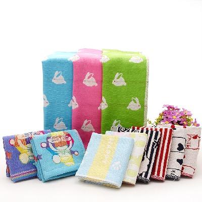 【儿童5条装】纯棉三层纱布小毛巾 婴幼儿童毛巾洗脸宝宝口水巾