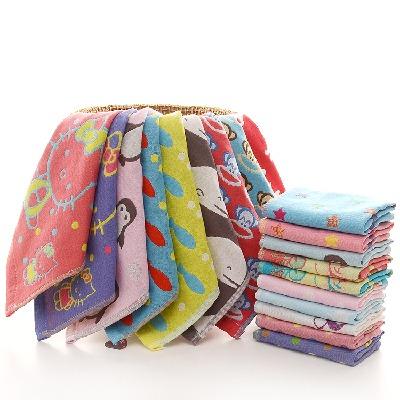 儿童方巾5条装三层纱布毛巾宝宝手帕洗脸巾婴幼儿童口水巾小方巾