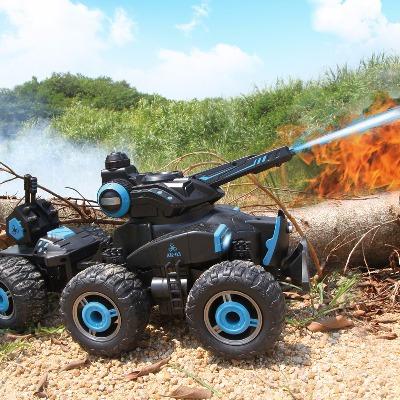 亿尔达充电遥控电动对战坦克可发射水儿童玩具男遥控四驱越野汽车