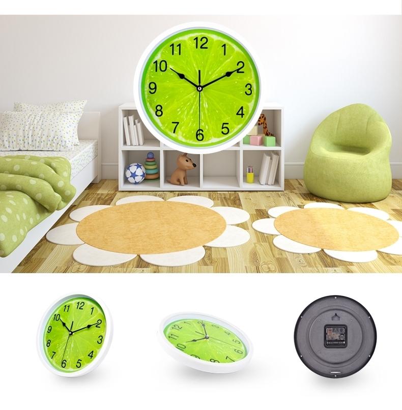 铂晨静音挂钟客厅卧室钟表现代创意壁钟卡通石英钟表简约个性挂表