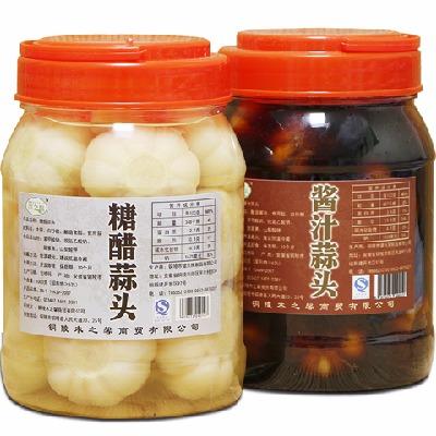 腌制大蒜头醋泡蒜子咸菜腌菜酸菜酱菜泡菜糖醋蒜下饭安徽铜陵特产