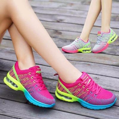 买一送二―运动鞋女鞋韩版气垫鞋网布女士透气增高鞋大码女鞋潮鞋