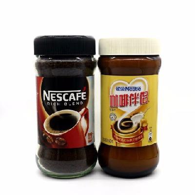 雀巢咖啡醇品瓶装香港版 黑咖啡200g+咖啡伴侣400g速溶纯咖啡伴侣