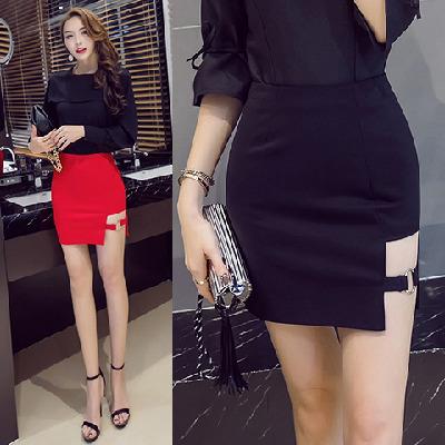 半身裙短裙女夏黑色包裙时尚百搭包臀裙子2019新款高腰弹力一步裙