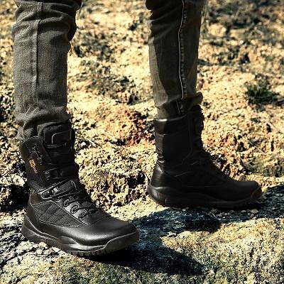 绿尾狐 军警靴特种部队靴CS野战靴子耐磨作战靴军迷陆战鞋高帮透气战术靴沙漠靴军靴男31005