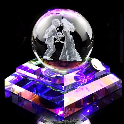 汽车摆件香水座车内饰品摆件保平安符可爱车载装饰用品创意水晶球