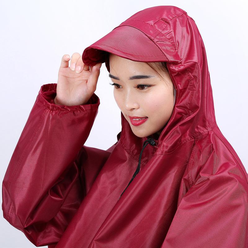 雨衣有袖电瓶车电动摩托车自行车防水男女成人单人骑车防暴雨雨披