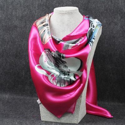 新款大方巾丝巾围巾女冬款缎面方巾90厘米秋冬大方巾披肩围脖