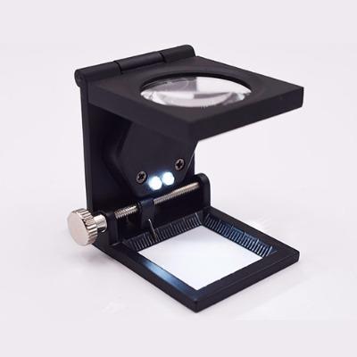 10倍折叠金属信鸽眼照布镜鉴定维修放大镜钟表仪器修理看电路板