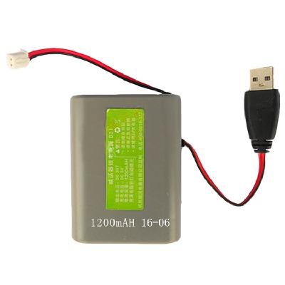 手持喊话器专用可充锂电池3.7V扩音机摆地摊叫卖喇叭电瓶蓄电池6V