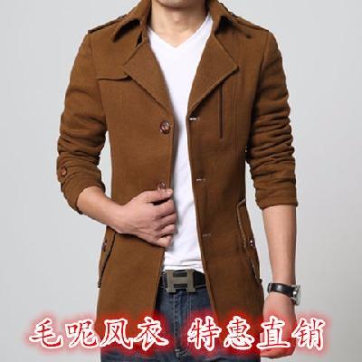 夹克上衣外套呢子大衣青年商务休闲翻领大码男装英伦风韩版夹克男