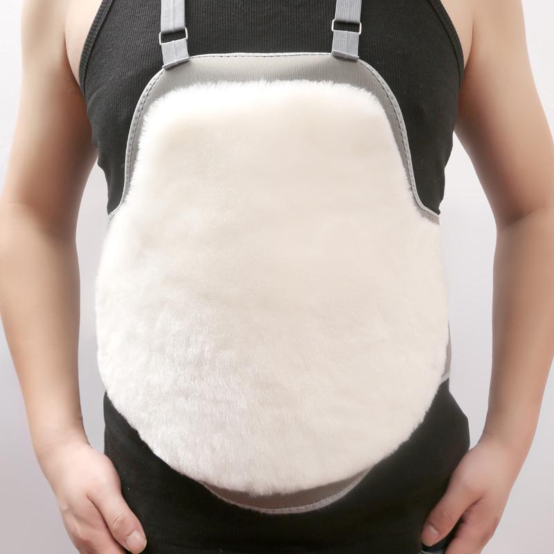 纯羊毛护胃肚兜护肚护胸带OK布暖胃皮毛一体冬季保暖护腰男女通用