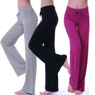 20257/【瑜伽裤】春夏瑜伽裤练功健身裤舞蹈裤莫代尔女宽松微喇运动裤