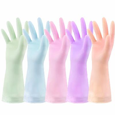 纤诗洁洗碗手套加厚橡胶手套胶皮手套乳胶手套厨房家务防水耐用