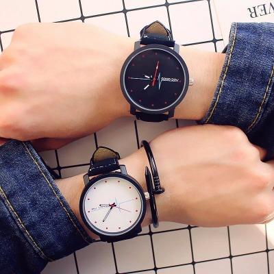 【买一送六】手表男 手表女学生韩版情侣手表心电图 手表男学生