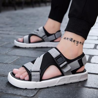 国踏2020新款凉鞋男韩版防滑男士潮凉鞋夏季男凉鞋软底户外沙滩鞋