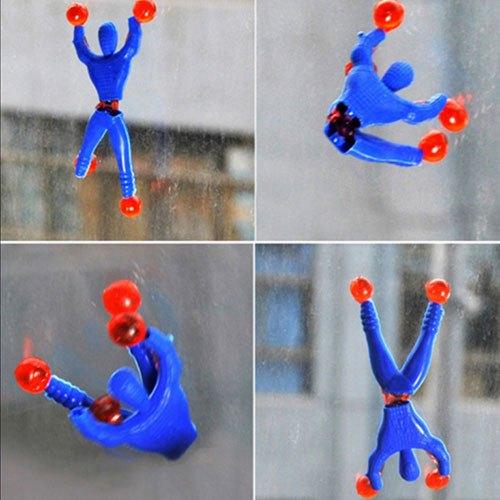 儿童玩具爬墙蜘蛛人粘性蜘蛛侠创意整蛊玩具超人无聊小人迷你解压