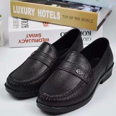 短筒防水雨鞋男低帮耐磨防滑防油仿皮鞋厚底塑料厨房工作鞋厨师鞋